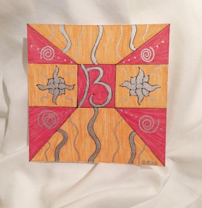 "The ""B"". I was thinking of my oldest son with this one; his favorite color is blue but this made me think of the energy young boys can have."